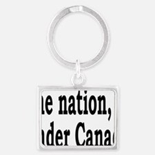 undercanadarectangle Landscape Keychain
