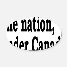 undercanadarectangle Oval Car Magnet