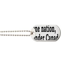 undercanadarectangle Dog Tags