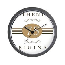 75th Birthday Gag Gift Wall Clock