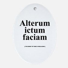 Latin Mulligan Oval Ornament