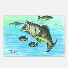 The Big Bass and Bluegill Postcards (Package of 8)
