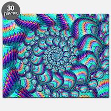 Turquoise Balls Fractal Art Pattern Puzzle