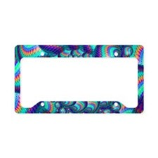Turquoise Balls Fractal Art P License Plate Holder
