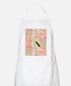 Peach Peacock and Lilies Apron