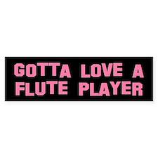 Funny Flute Player Bumper Bumper Sticker
