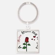 From Me To You Square Keychain