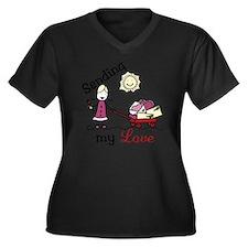 Sending My L Women's Plus Size Dark V-Neck T-Shirt