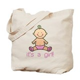 It's a girl Canvas Bags