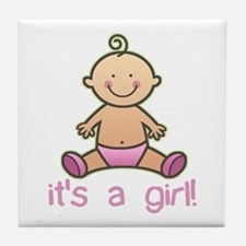 New Baby Girl Cartoon Tile Coaster