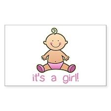 New Baby Girl Cartoon Rectangle Decal