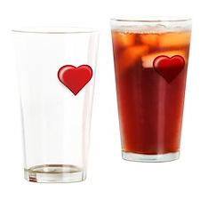 i love my honey wht Drinking Glass