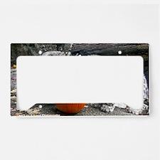 Snow Leopards and Pumpkin License Plate Holder