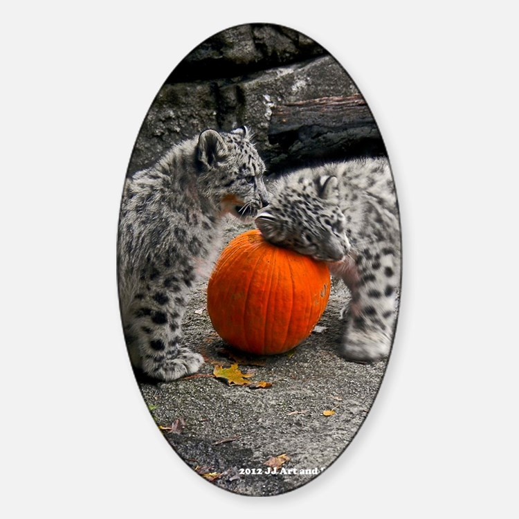 Snow Leopards and Pumpkin Decal