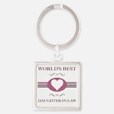 Worlds Best Daughter-In-Law Square Keychain