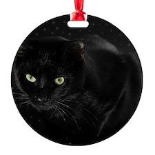 Mystical Black Cat Ornament