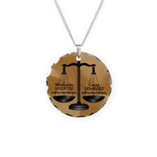 Lg. button round Necklace