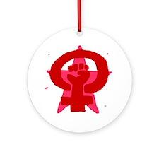 Socialist Feminist No Text Ornament (Round)