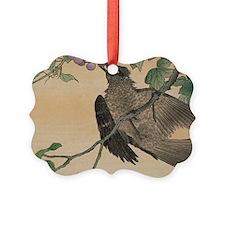 Art Deco Bird Calendar Ornament