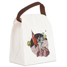 Spaceman2 Canvas Lunch Bag