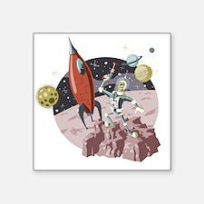 "Spaceman2 Square Sticker 3"" x 3"""