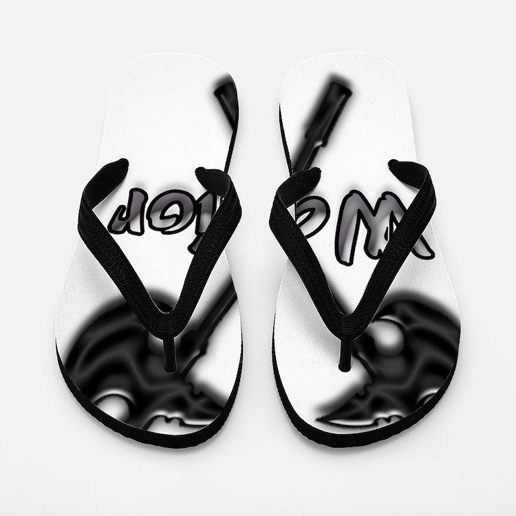 Warrior Logo Flip Flops
