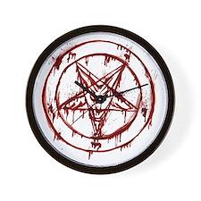 Bloody Baphomet Wall Clock