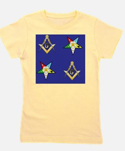 Masonic - Eastern Star Puzzle coaster Girl's Tee