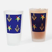 Masonic - Eastern Star Puzzle coast Drinking Glass