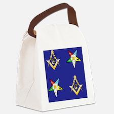 Masonic - Eastern Star Puzzle coa Canvas Lunch Bag
