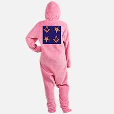 Masonic - Eastern Star Puzzle coast Footed Pajamas