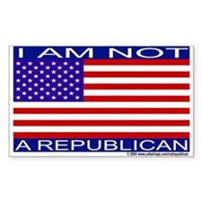 """I am not a Republican"" Decal"