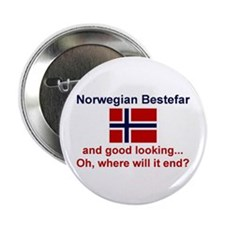 "Gd Lkg Norwegian Bestefar 2.25"" Button"