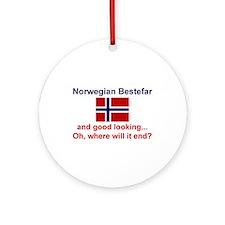 Gd Lkg Norwegian Bestefar Ornament (Round)