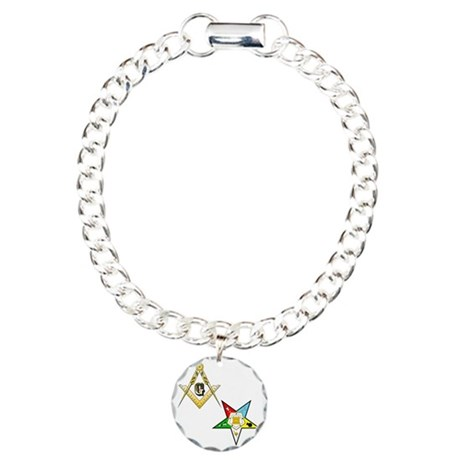 Masonic - Eastern Star g Charm Bracelet, One Charm