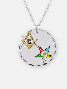 Masonic - Eastern Star glass Necklace