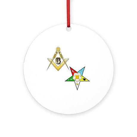 Masonic - Eastern Star glass Round Ornament