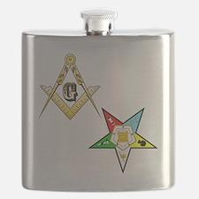 Masonic - Eastern Star glass Flask