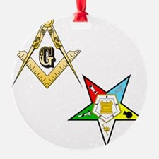 Masonic - Eastern Star glass Ornament