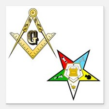 "Masonic - Eastern Star g Square Car Magnet 3"" x 3"""