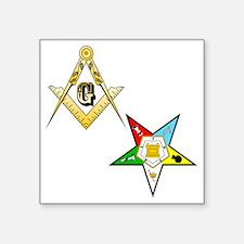 "Masonic - Eastern Star glas Square Sticker 3"" x 3"""