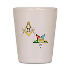 Masonic - Eastern Star glass Shot Glass