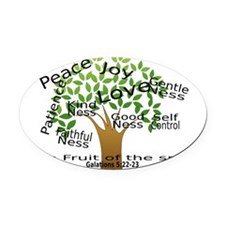 Fruit of the Spirit Oval Car Magnet