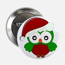 "Christmas Owl 2.25"" Button"