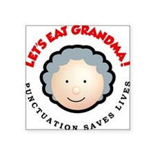 """Punctuation saves lives Square Sticker 3"""" x 3"""""""