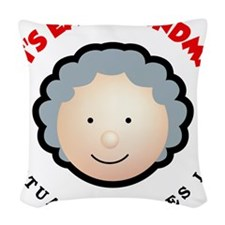 Punctuation saves lives Woven Throw Pillow