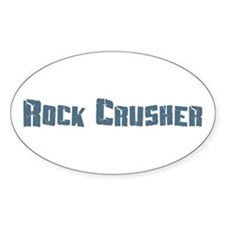 Rock Crusher Oval Decal