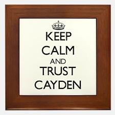 Keep Calm and TRUST Cayden Framed Tile