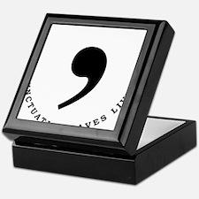 Commas saves lives Keepsake Box