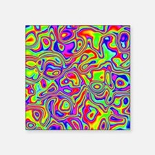 "Rainbow Oil Psychedelic Pat Square Sticker 3"" x 3"""